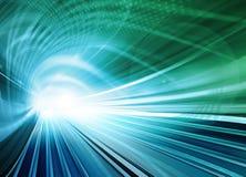 Movimento vago astratto blu di velocità Fotografie Stock Libere da Diritti