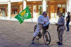 Movimento verde a Bologna - Italia Fotografia Stock