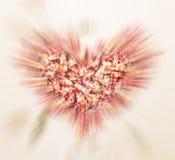 Movimento do zumbido do coração Imagem de Stock Royalty Free
