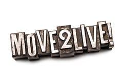 Movimento 2 vivo! imagem de stock
