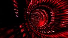 Movimentos com estilo da matriz Fluindo o redemoinho dos dados digitais definição 4K ilustração stock