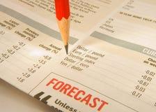 Movimentos da moeda da monitoração; taxa de câmbio. Imagens de Stock Royalty Free
