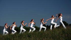 Movimentos Running Imagens de Stock
