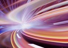 Movimiento abstracto de la velocidad en un camino de la carretera Imágenes de archivo libres de regalías