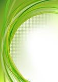 Movimiento abstracto verde