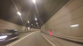 Movimiento acelerado en el camino almacen de metraje de vídeo