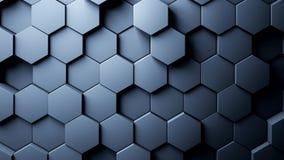 Movimiento al azar del fondo abstracto de los hexágonos, animación 3d ilustración del vector