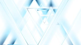 Movimiento animado de los triángulos azules claros de la tecnología ilustración del vector