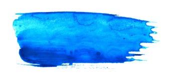 Movimiento azul del cepillo de pintura en blanco