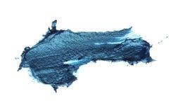 Movimiento azul del cepillo en blanco Aislado imagenes de archivo