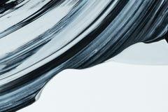 Movimiento blanco y negro del cepillo fotografía de archivo libre de regalías