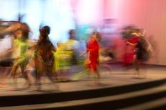 Movimiento capturado con velocidad de obturador lenta Imagen de archivo