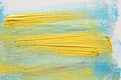 Movimiento colorido del cepillo de la acuarela sobre el fondo blanco imágenes de archivo libres de regalías
