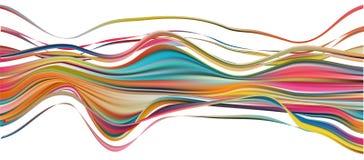 Movimiento colorido del cepillo del flujo Línea aislada cinta