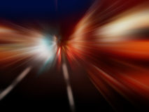 Movimiento de alta velocidad en la noche Fotos de archivo libres de regalías