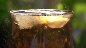 Movimiento de burbujas en vino espumoso almacen de video