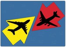 Movimiento de dos aviones Foto de archivo libre de regalías