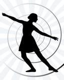 Movimiento de la bailarina Imagen de archivo libre de regalías