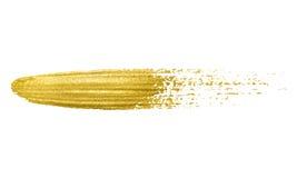 Movimiento de la brocha del oro stock de ilustración