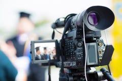 movimiento de la captura de la imagen del visor de la demostración de la cámara en la ceremonia de boda de la entrevista o de la  imágenes de archivo libres de regalías