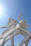 Movimiento de la escultura del cuadrado de Xinghai Imagen de archivo libre de regalías