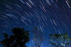 Movimiento de la estrella Imágenes de archivo libres de regalías