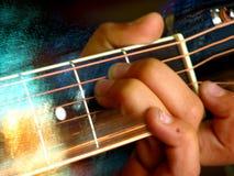 Movimiento de la guitarra Fotos de archivo
