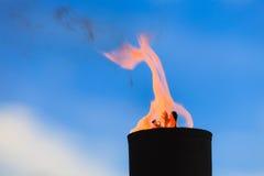 Movimiento de la llama del fuego Fotografía de archivo libre de regalías
