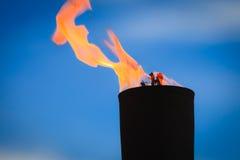 Movimiento de la llama del fuego Foto de archivo libre de regalías
