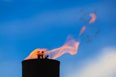 Movimiento de la llama del fuego Foto de archivo
