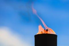 Movimiento de la llama del fuego Imagen de archivo