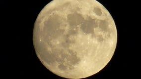 Movimiento de la Luna Llena de la noche en el cielo metrajes
