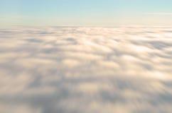 Movimiento de la nube de la falta de definición Foto de archivo