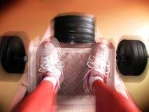 Movimiento de la prensa de la pierna Imagenes de archivo