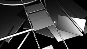 movimiento de la tira de película 3D stock de ilustración