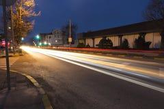 Movimiento de la velocidad de la aceleración foto de archivo