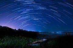 Movimiento de las estrellas Imagen de archivo libre de regalías