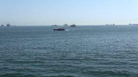 Movimiento de las naves del Mar Negro al mar de Mármara almacen de metraje de vídeo