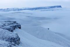 Movimiento de las nubes en las montañas, el Cáucaso septentrional, Russ Foto de archivo libre de regalías