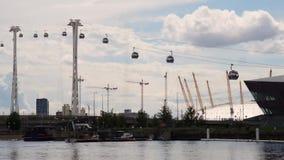 Movimiento de Londres del teleférico almacen de video