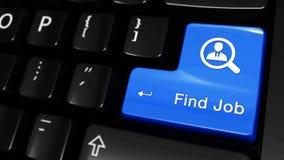 374 Movimiento de mudanza del trabajo del hallazgo en el botón del teclado de ordenador metrajes