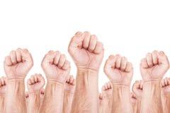 Movimiento de trabajo, huelga del sindicato de trabajadores Fotos de archivo