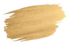 Movimiento del cepillo de la textura de la acuarela del oro imagenes de archivo
