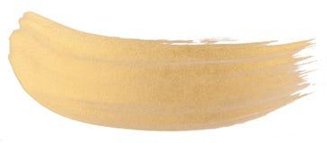Movimiento del cepillo de la textura de la acuarela del oro foto de archivo