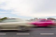 Movimiento del coche Fotografía de archivo libre de regalías