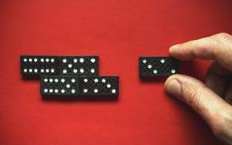 Movimiento del dominó Fotografía de archivo libre de regalías