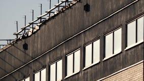 Movimiento del edificio con estilo de la escena de la película occidental almacen de video