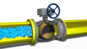 Movimiento del gas en un gaseoducto ilustración del vector
