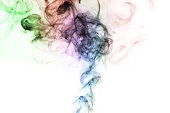 Movimiento del humo en el fondo blanco Foto de archivo
