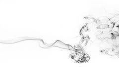 Movimiento del humo en el fondo blanco Fotos de archivo libres de regalías